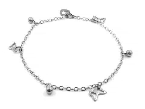 Ankle bracelet. Bangle. Stainless steel