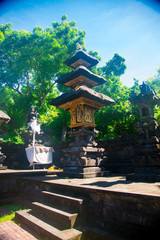 Goa Lawah Temple in Bali, Indonesia. Bali is an Indonesian island and known as a tourist destination. Majority of people in Bali believe in the Hindu religion.