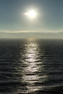 The Sun reflecting off the sea