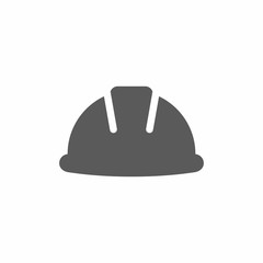 Hard hat, helmet vector icon