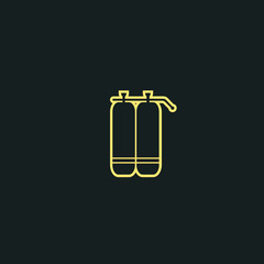 diving cylinders icon