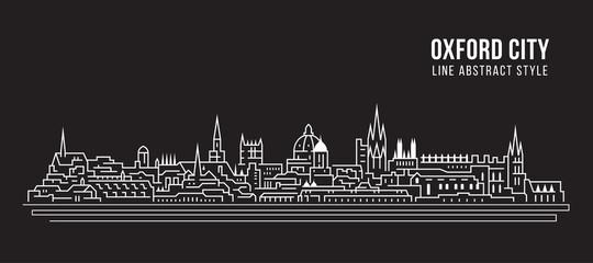 Cityscape Building Line art Vector Illustration design - Oxford city
