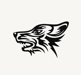 Wolf Face Logo, art vector design
