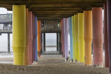 Scheveningen, Netherlands - April 04 , 2018: Under the Pier in Scheveningen