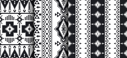 Set of Southwest American, Indian, Aztec, Navajo patterns.