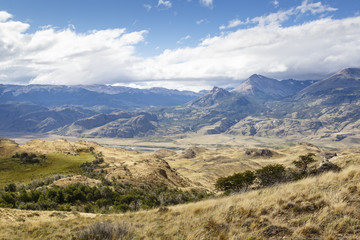 Landscape at the Chacabuco Valley, Parque Patagonia, AysŽn Region, Chile.