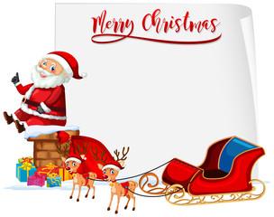 Merry Christmas santa and sleigh concept
