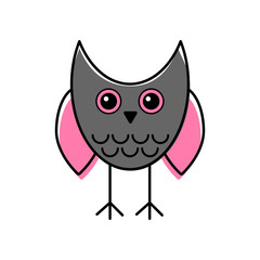 Owl simple icon flat vector illustration. Eps10