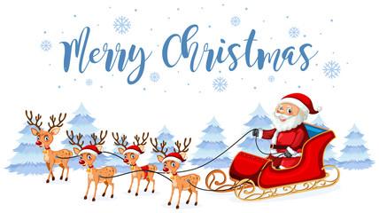 Santa claus merry christmas template