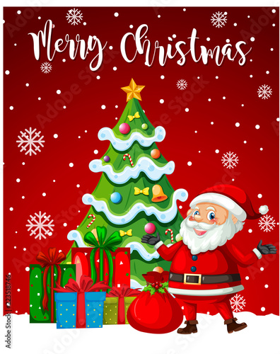 santa claus merry christmas template stock image and royalty free