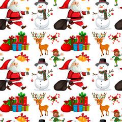 A christmas seamless pattern