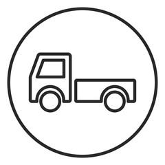 Truck stroke icon, logo illustration. Stroke high quality symbol.