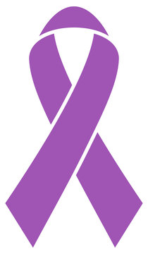 Graphic Purple Ribbon