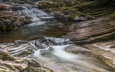 Cascading Water in the River - Ladies Well in the Chichester State Forest - Taken on the Allyn River, Barrington Tops National Park, NSW, Australia