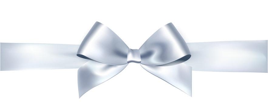 Vector bow and ribbon.
