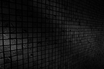 old black brick wall