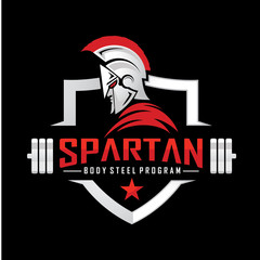 Spartan Fitness and Bodybuilding Logo design inspiration Vector