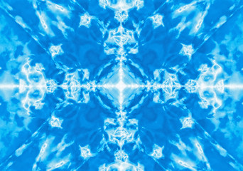 Blue kaleidoscope pattern background