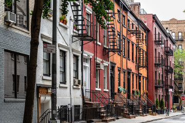 Fotobehang New York Picturesque street view in Greenwich Village, New York
