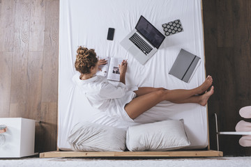 Woman Freelancer Working at Home