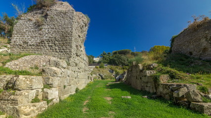 Anfiteatro Severiano in beautiful town of Albano Laziale timelapse hyperlapse, Italy