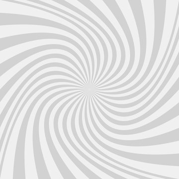 Light grey abstract spiral design background - vector graphic design from twisted rays