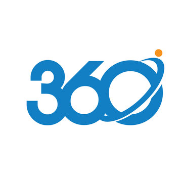 360 degrees consulting and media logo vector