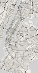 Vector city map of New York in black and white