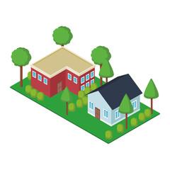 House residences isometric