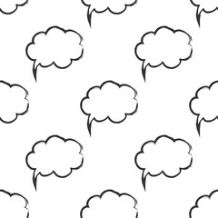 Seamless pattern with speech bubbles Welcome background. Doodle speech bubble pattern. Friendship design for your skin device or website