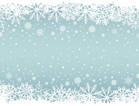 Abstract Christmas background with white snowflake borders