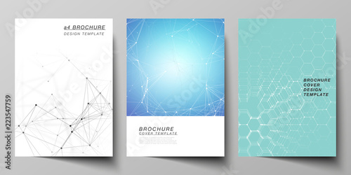 the vector layout of a4 format cover mockups design templates for