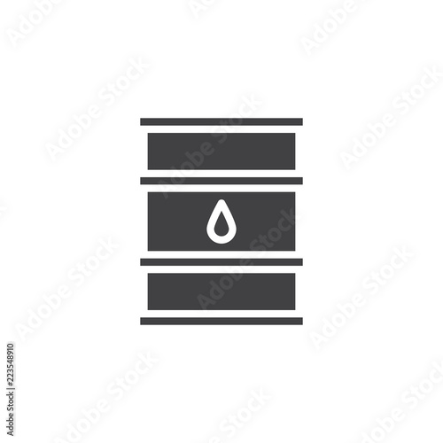Oil Barrel Vector Icon Filled Flat Sign For Mobile Concept And Web
