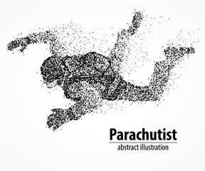 abstraction, parachutist, fly