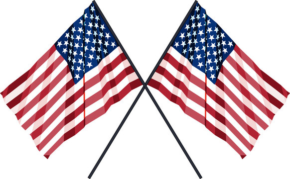 Two US Flag