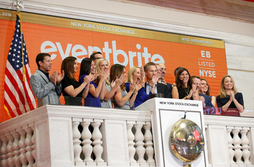 Eventbrite Inc. celebrate the company's IPO at the New York Stock Exchange (NYSE) in New York