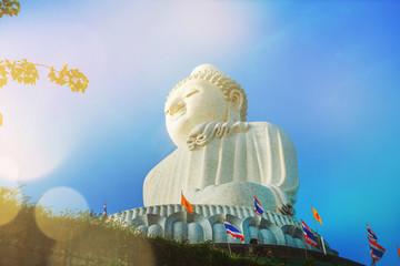 statue Big Buddha high hilltop Phuket Thailand