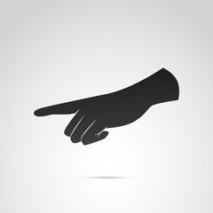 Hand pointing, pressing touching vector icon.