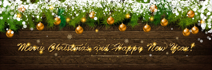 Christmas and New Year typographical Wall mural