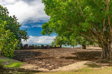 Taputapuatea Marae of Raiatea French polynesia Unesco archeological site