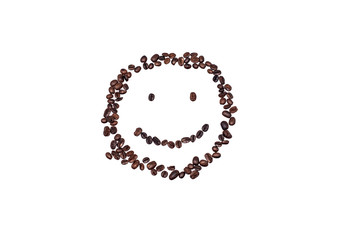 The face from coffee beans