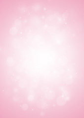 Pink sparkle rays lights with bokeh elegant show on stage abstract background. Dust sparks background.