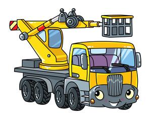 Funny telescopic boom lift car or truck