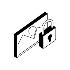 data security padlock with picture