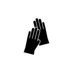 gloves icon on white background. Clothing or Clothes or Fashion for Man Woman Icon Vector Illustration