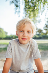 Portrait of blonde boy