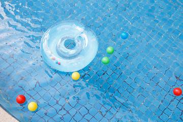 Swim ring and balls