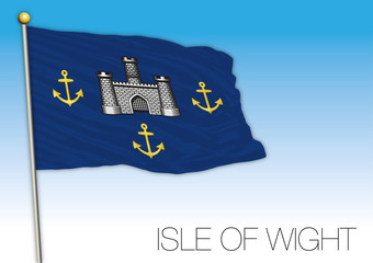 Isle of Wight flag, United Kingdom, vector illustration
