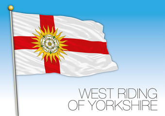 West Riding of Yorkshire county flag, United Kingdom, vector illustration
