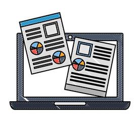 laptop computer document paper report